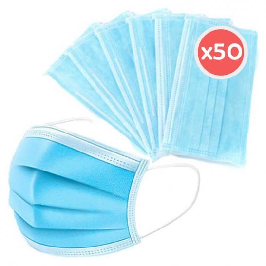 Mascarilla Higiénica 3 capas Adulto (50 unidades)