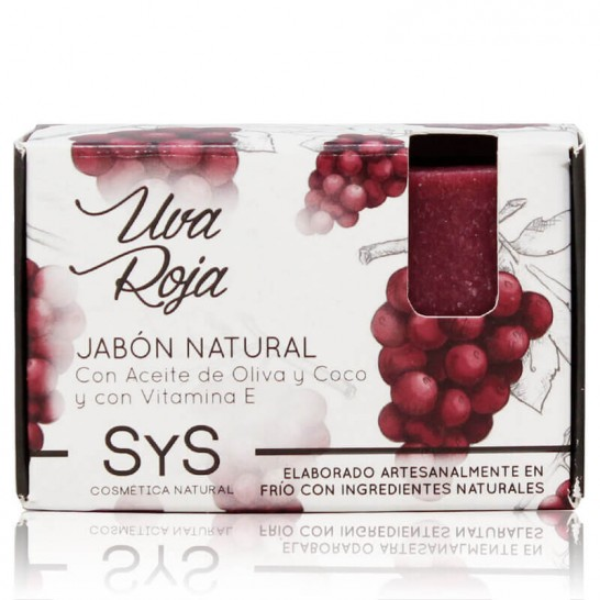 Jabón Natural Uva Roja 100g Premium SyS