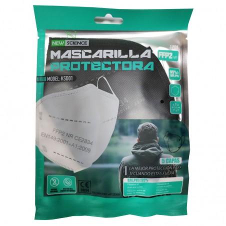 Mascarilla FFP2 Adulto Negra (5 unidades)