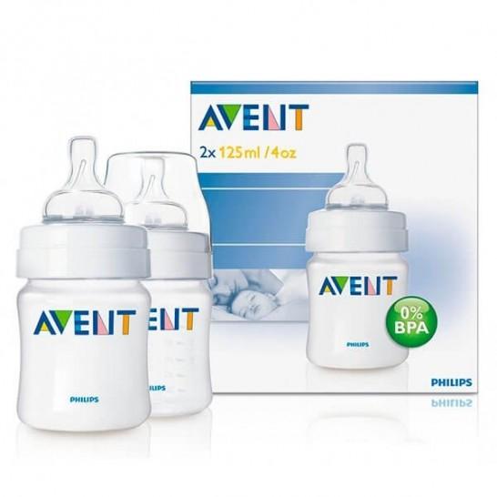 Pack 2 Biberones Anticólicos AVENT 125 ml