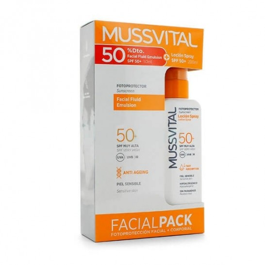 Pack Fotoprotector Loción Spray SPF50+ 200 ml + Emulsión Facial Fluida SPF50+ 50ml