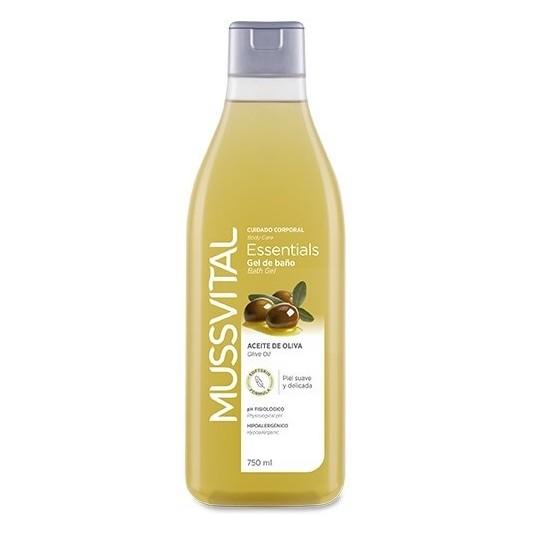 Gel de Baño Aceite Oliva Mussvital 750 ml