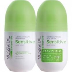 Desodorante Aloe Vera Duplo Antitranspirante Sensitive Mussvital