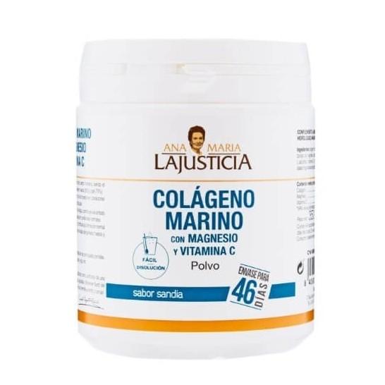 LaJusticia Colágeno Marino con Magnesio y Vitamina C sabor sandía 350g
