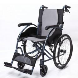 Silla de ruedas de aluminio autopropulsable plegable