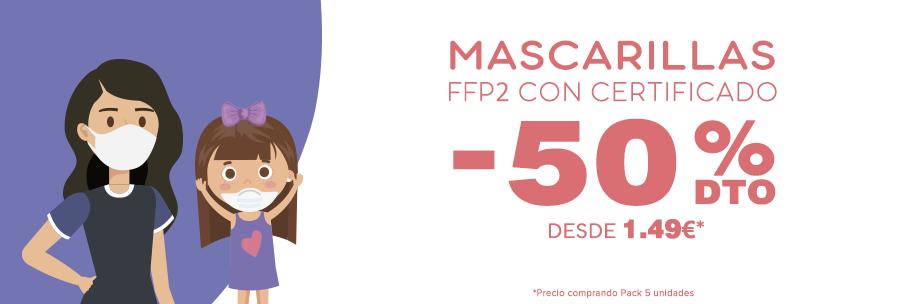 Mascarillas FFP2 KN95 baratas